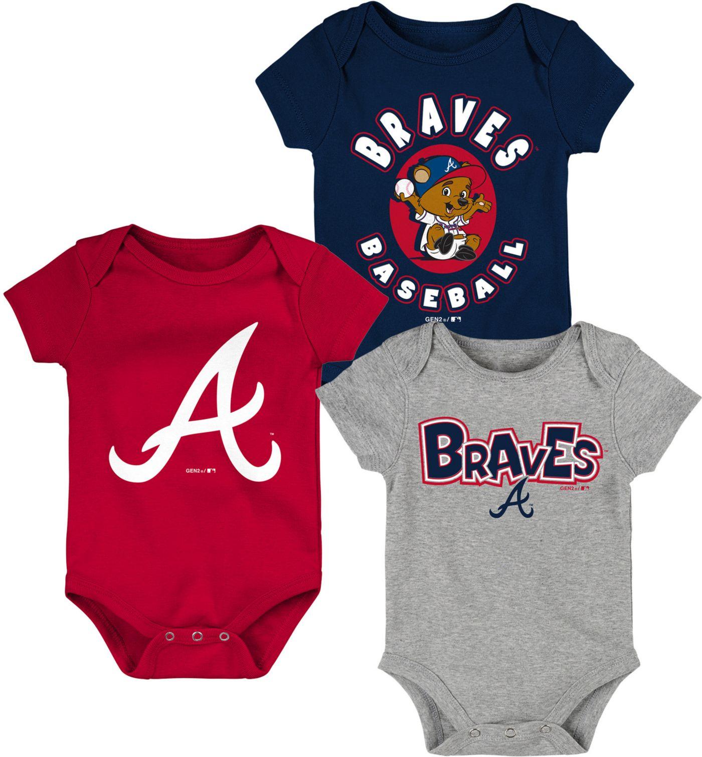Gen2 Infant Atlanta Braves 3-Piece Onesie Set