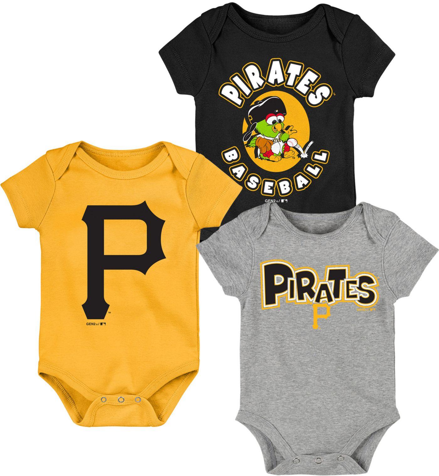 Gen2 Infant Pittsburgh Pirates 3-Piece Onesie Set