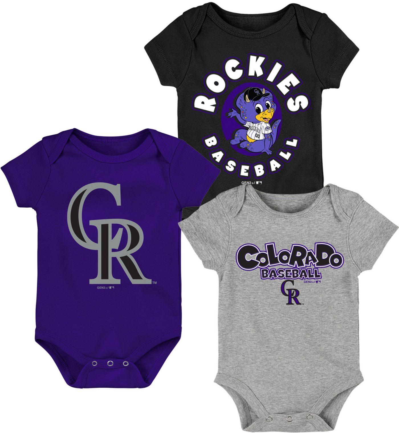 Gen2 Infant Colorado Rockies 3-Piece Onesie Set