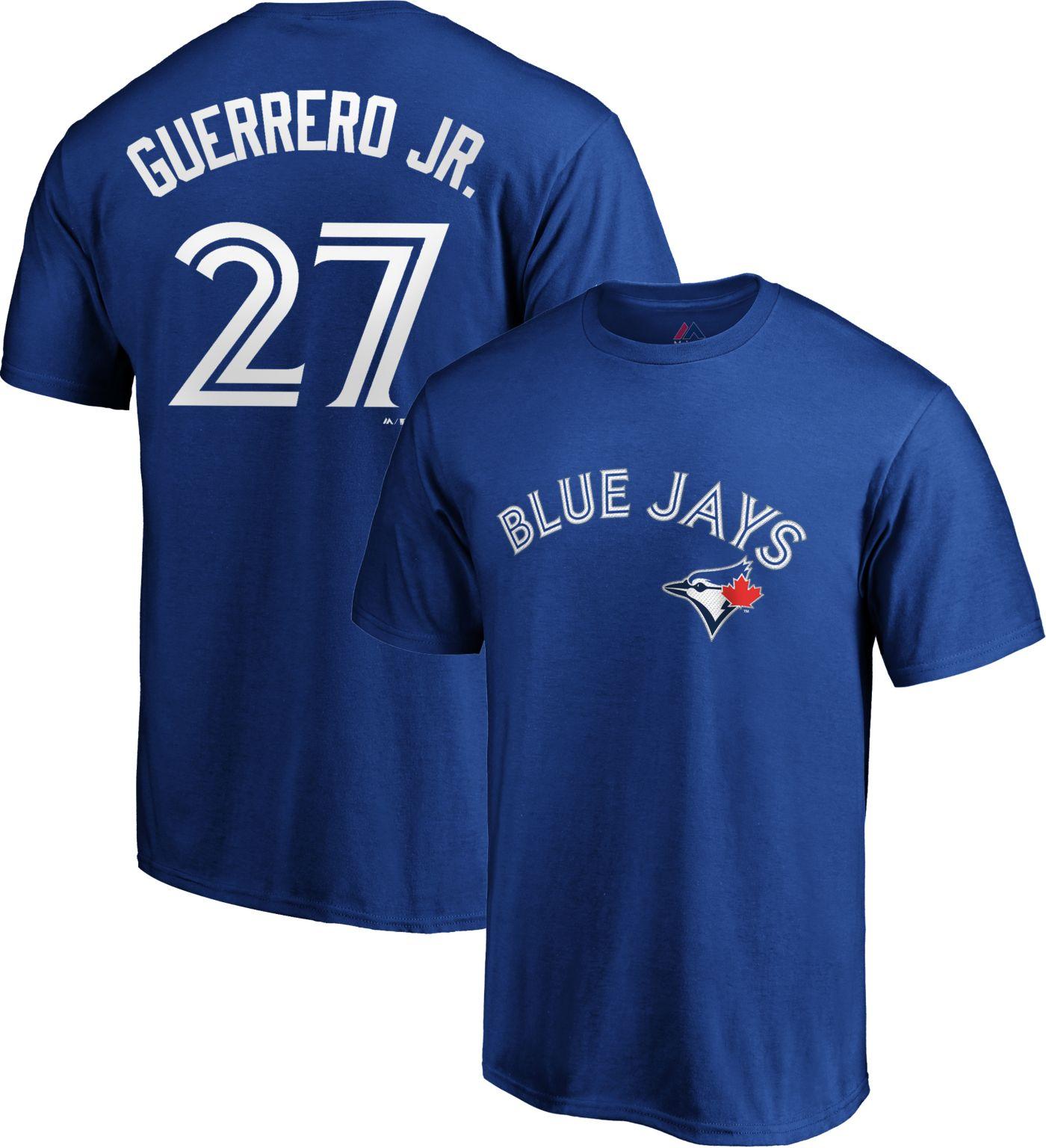 Majestic Men's Toronto Blue Jays Vladimir Guerrero Jr. #27 Royal T-Shirt