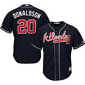 Majestic Men's Replica Atlanta Braves Josh Donaldson #20 Cool Base Alternate Navy Jersey