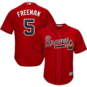 Majestic Men's Replica Atlanta Braves Freddie Freeman #5 Cool Base Alternate Red Jersey