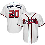 Majestic Men's Replica Atlanta Braves Josh Donaldson #20 Cool Base Home White Jersey