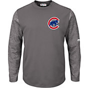 Majestic Men's Chicago Cubs Therma Base Authentic Collection Pullover Tech Fleece
