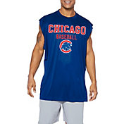 Majestic Big and Tall Men's Chicago Cubs Royal Muscle T-Shirt