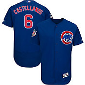 Majestic Men's Authentic Chicago Cubs Nick Castellanos #6 Flex Base Alternate Royal On-Field Jersey