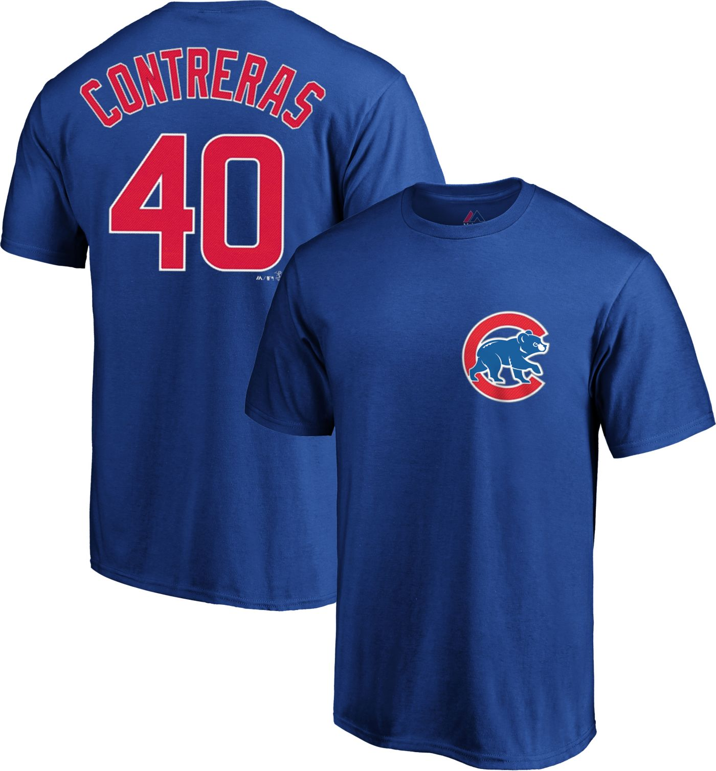 Majestic Men's Chicago Cubs Willson Contreras #40 Royal T-Shirt