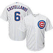 Majestic Men's Replica Chicago Cubs Nick Castellanos #6 Cool Base Home White Jersey