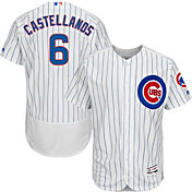 Majestic Men's Authentic Chicago Cubs Nick Castellanos #6 Flex Base Home White On-Field Jersey