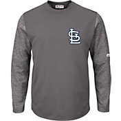 Majestic Men's St. Louis Cardinals Therma Base Authentic Collection Pullover Tech Fleece