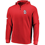 Majestic Men's St. Louis Cardinals Authentic Collection Batting Practice Waffle Hooded Pullover