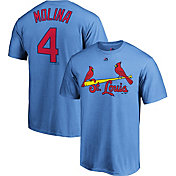 Majestic Men's St. Louis Cardinals Yadier Molina #4 Light Blue T-Shirt