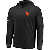 Majestic Men's San Francisco Giants Authentic Collection Batting Practice Waffle Hooded Pullover