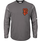 Majestic Men's San Francisco Giants Therma Base Authentic Collection Pullover Tech Fleece