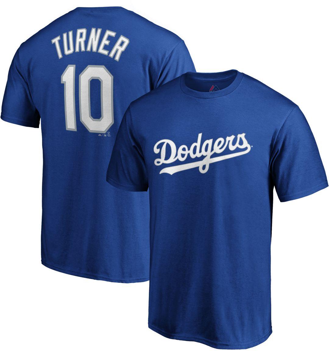 timeless design 9715c 60157 Majestic Men's Los Angeles Dodgers Justin Turner #10 Royal T-Shirt