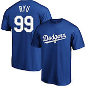 Majestic Men's Los Angeles Dodgers Hyun-Jin Ryu #99 Royal T-Shirt