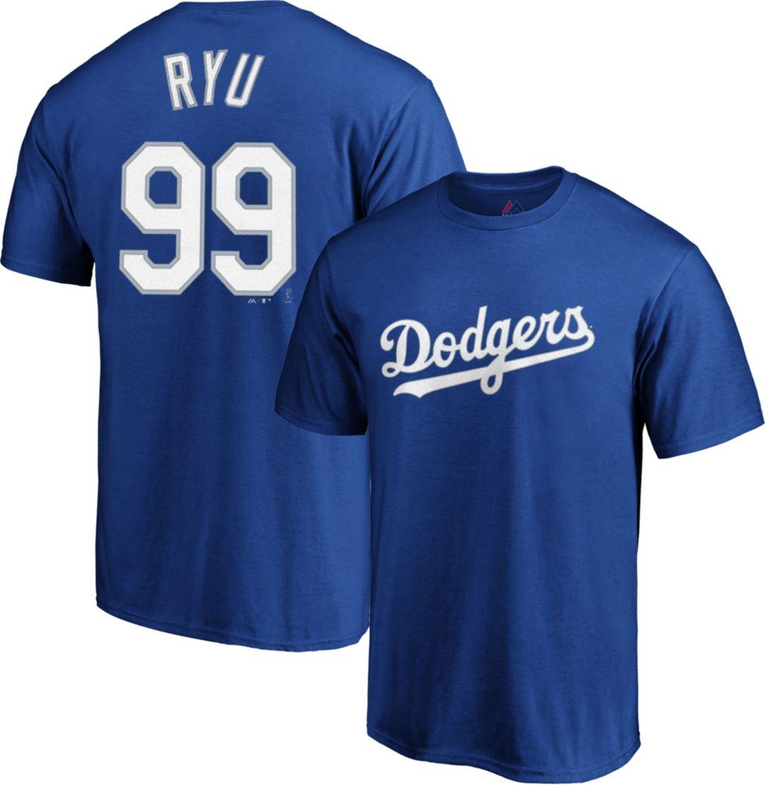 sale retailer bef5c 43ce2 Majestic Men's Los Angeles Dodgers Hyun-Jin Ryu #99 Royal T-Shirt