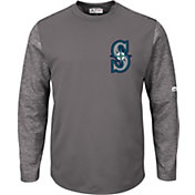 Majestic Men's Seattle Mariners Therma Base Authentic Collection Pullover Tech Fleece