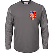 Majestic Men's New York Mets Therma Base Authentic Collection Pullover Tech Fleece