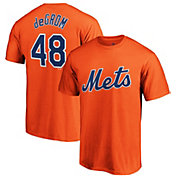 Majestic Men's New York Mets Jacob DeGrom #48 Orange T-Shirt