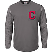 Majestic Men's Cleveland Indians Therma Base Authentic Collection Pullover Tech Fleece