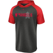 Majestic Men's Los Angeles Angels Authentic Collection Raglan Pullover Short Sleeve Hoodie