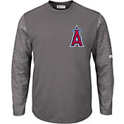 Majestic Men's Los Angeles Angels Therma Base Authentic Collection Pullover Tech Fleece