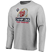 Men's 2019 World Series Champions Locker Room Washington Nationals Long Sleeve Shirt