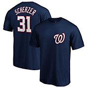 Majestic Men's Washington Nationals Max Scherzer #31 Navy T-Shirt