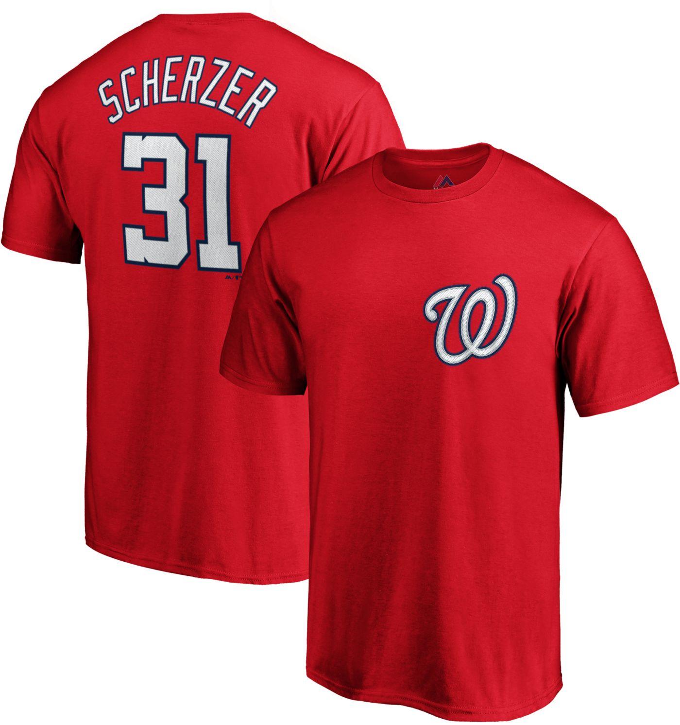 Majestic Men's Washington Nationals Max Scherzer #31 Red T-Shirt