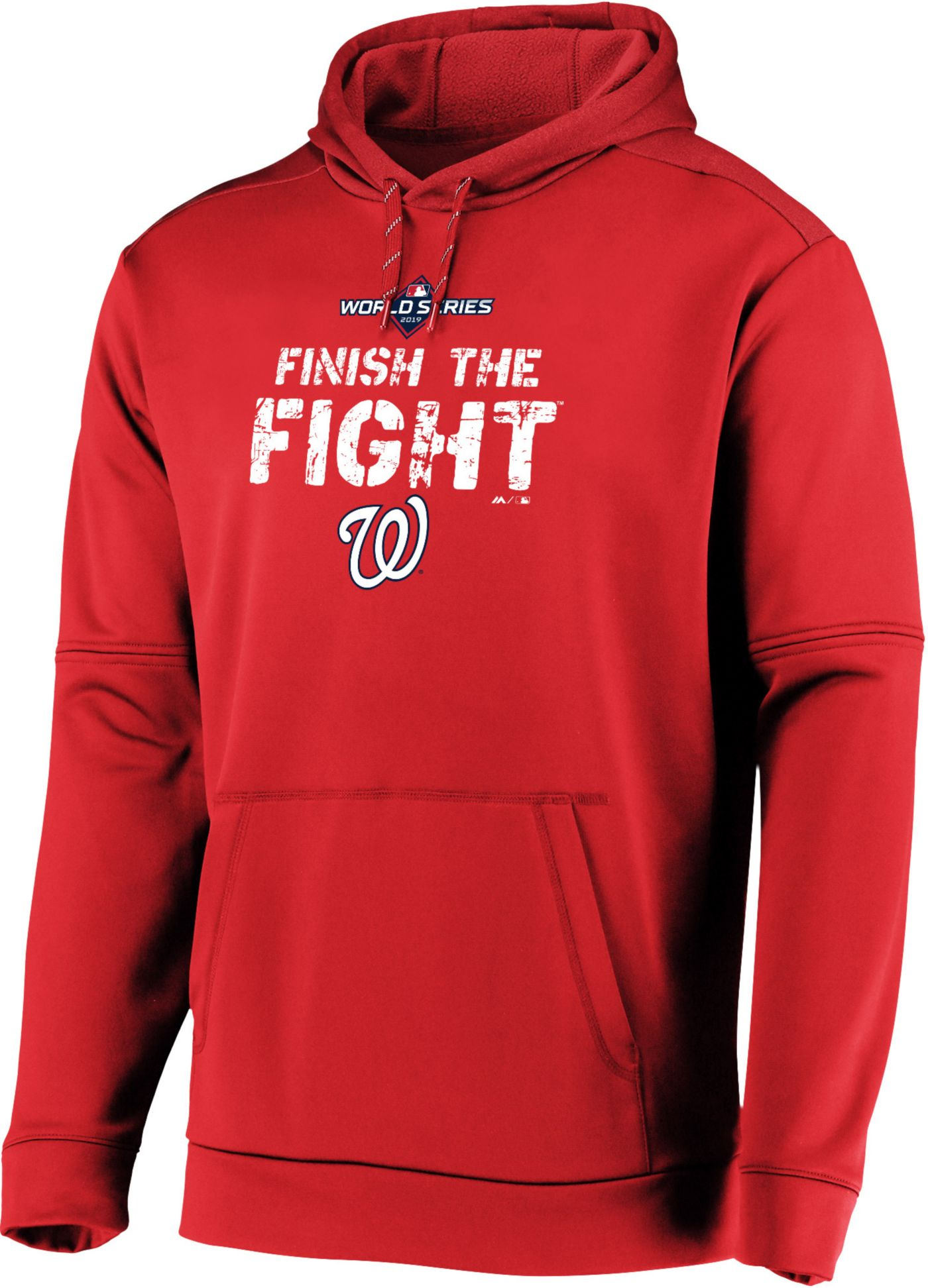 Men's 2019 World Series On-Field 'Finish the Fight' Washington Nationals Pullover Hoodie