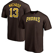 Majestic Men's San Diego Padres Manny Machado #13 Brown T-Shirt