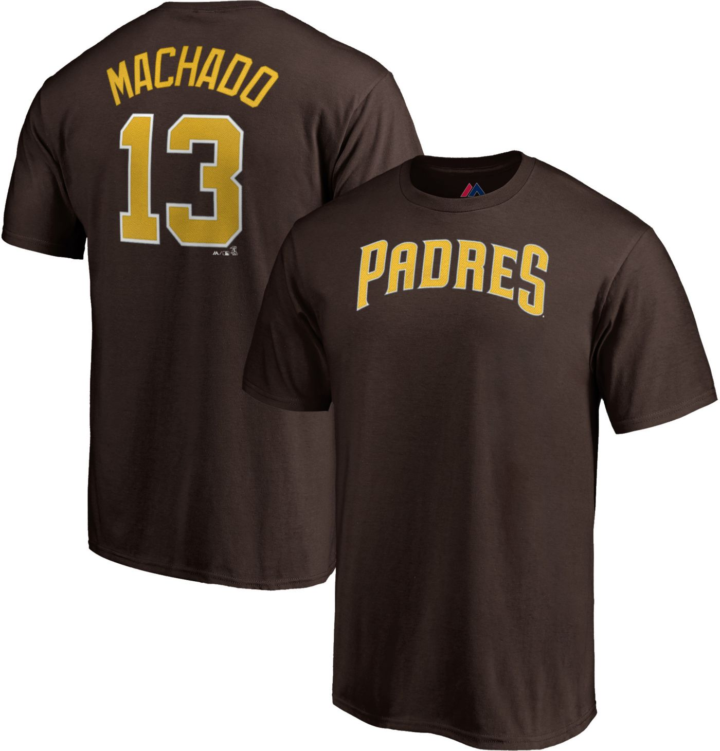 Majestic Men's San Diego Padres Manny Machado #13 Brown T-Shirt