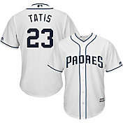 Majestic Men's Replica San Diego Padres Fernando Tatis Jr. #23 Cool Base Home White Jersey