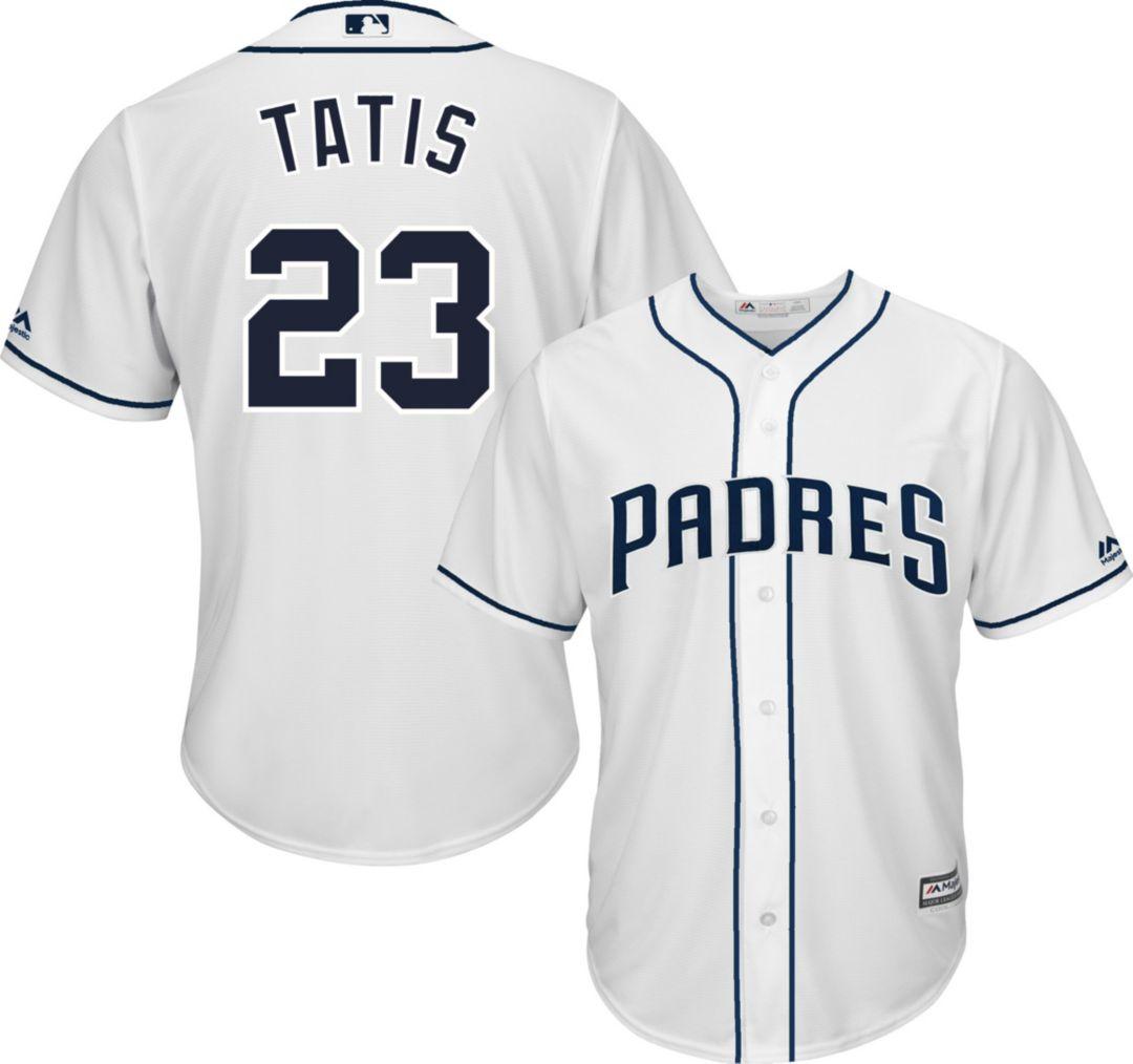 best sneakers aaa73 1007f Majestic Men's Replica San Diego Padres Fernando Tatis Jr. #23 Cool Base  Home White Jersey