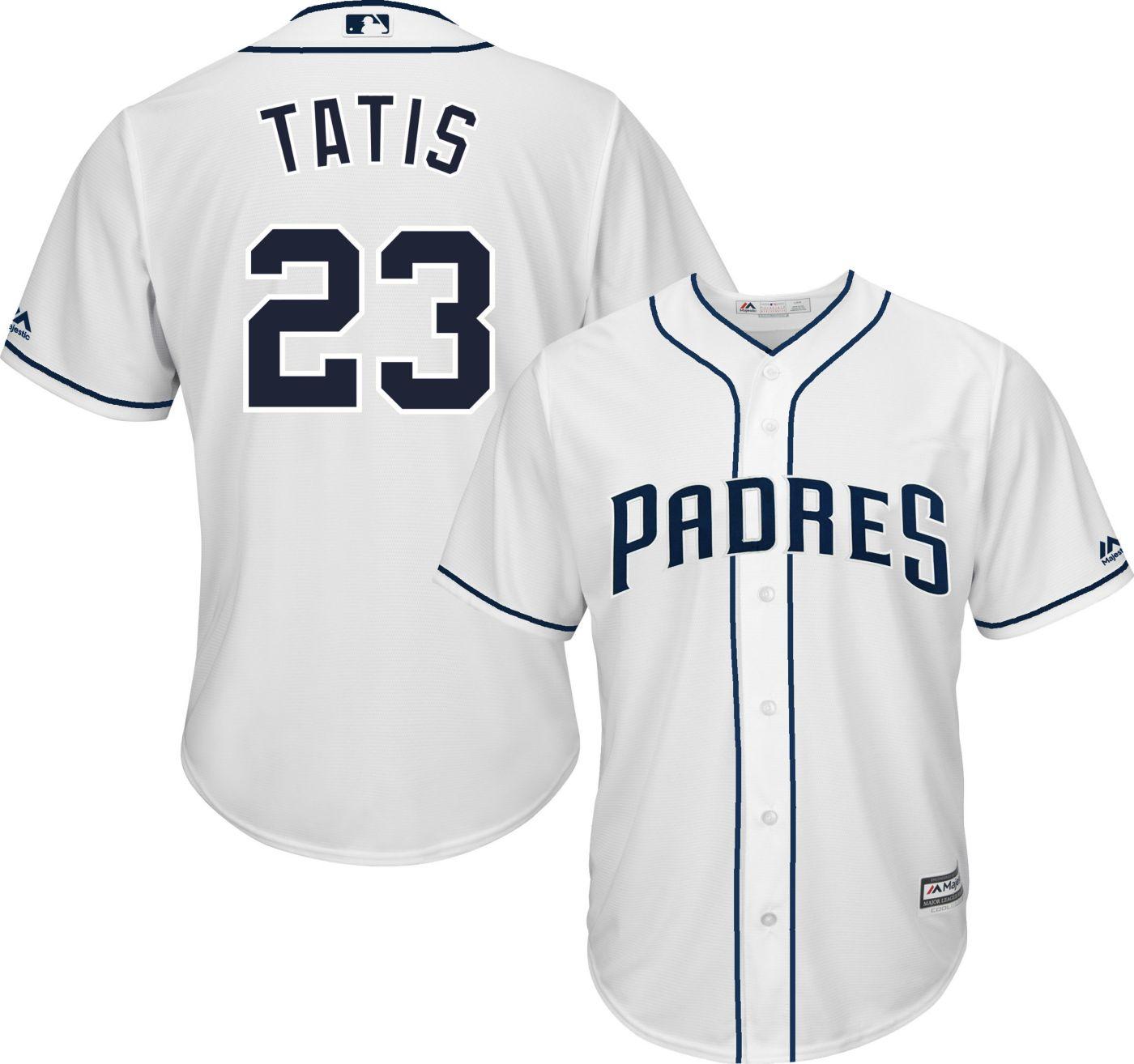 Majestic Men's Replica San Diego Padres Fernando Tatis Jr. #23 Cool Base Home White Jersey