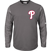 Majestic Men's Philadelphia Phillies Therma Base Authentic Collection Pullover Tech Fleece