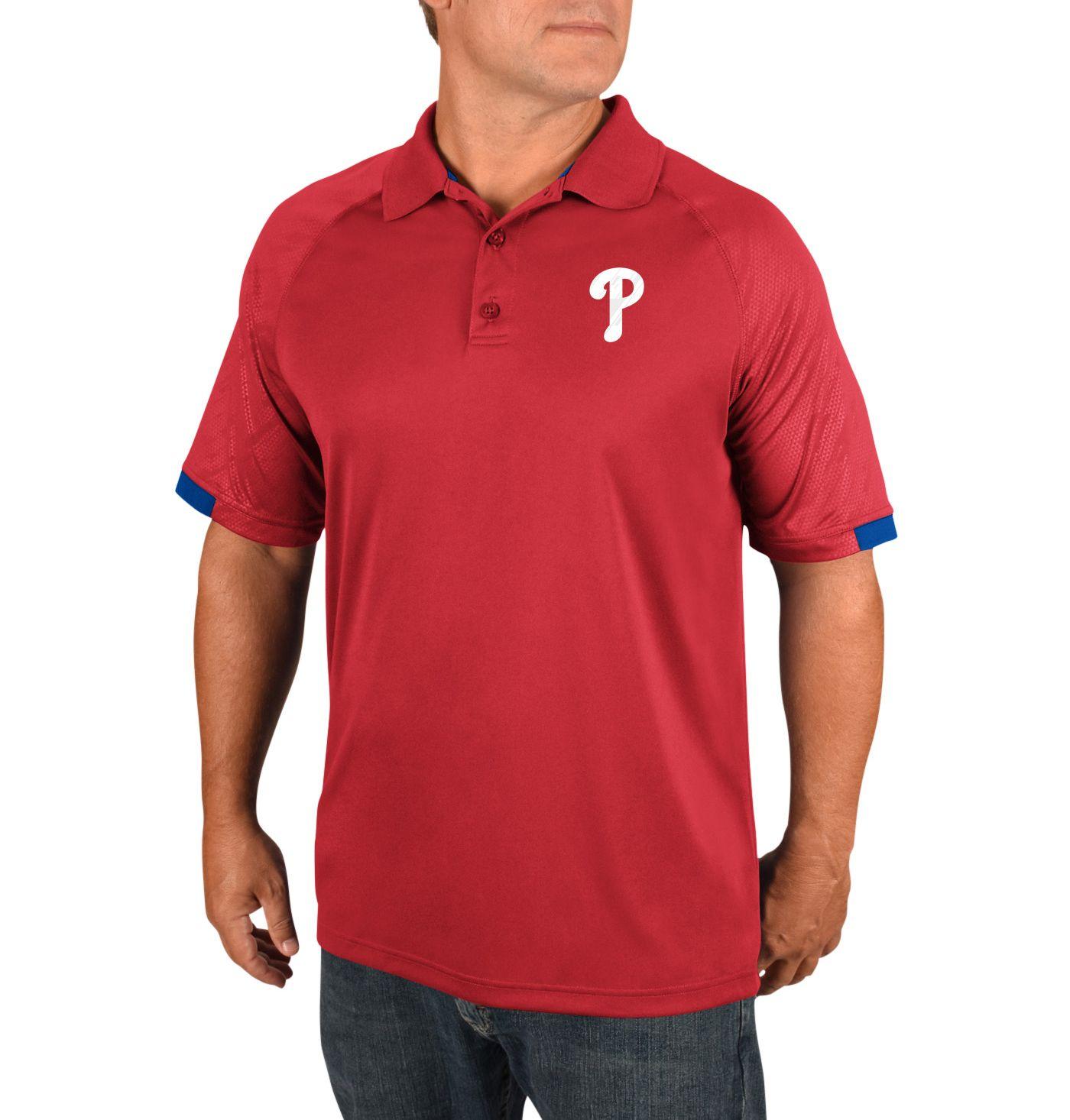 Majestic Men's Philadelphia Phillies Polo