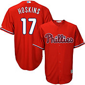 Majestic Men's Replica Philadelphia Phillies Rhys Hoskins #17 Cool Base Alternate Red Jersey