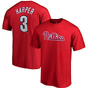 Majestic Men's Philadelphia Phillies Bryce Harper #3 Red T-Shirt