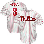 Majestic Men's Replica Philadelphia Phillies Bryce Harper #3 Cool Base Home White Jersey