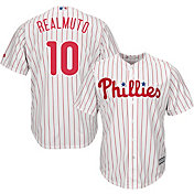 Majestic Men's Replica Philadelphia Phillies J.T. Realmuto #10 Cool Base Home White Jersey