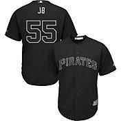 Majestic Men's Replica Pittsburgh Pirates Josh Bell 2019 Players Weekend Cool Base Black Jersey