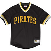 Mitchell & Ness Big and Tall Men's Pittsburgh Pirates Black V-Neck Pullover Jersey