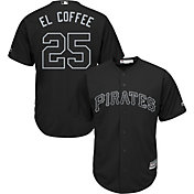 Majestic Men's Replica Pittsburgh Pirates Gregory Polanco 2019 Players Weekend Cool Base Black Jersey