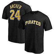 Majestic Men's Pittsburgh Pirates Chris Archer #24 Black T-Shirt