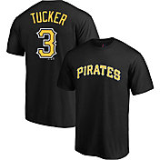 Majestic Men's Pittsburgh Pirates Cole Tucker #3 Black T-Shirt