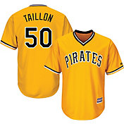 Majestic Men's Replica Pittsburgh Pirates Jameson Taillon #50 Cool Base Alternate Gold Jersey