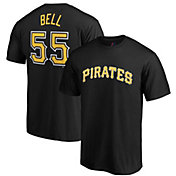 Majestic Men's Pittsburgh Pirates Josh Bell #55 Black T-Shirt