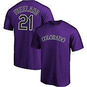 Majestic Men's Colorado Rockies Kyle Freeland #21 Purple T-Shirt